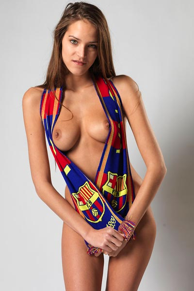 Model Silvie in FC Barcelona
