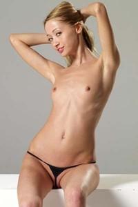 Model Ira in Black Thong