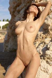 Model Rose in Nude Beach