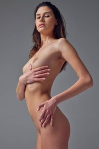 Model Cristin in Studio Nudes