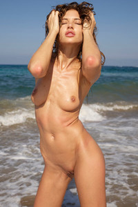 Model Taya in Cyprus Nude Beach