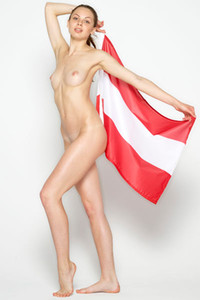 Model Cindy in Flag Day Hegre Style