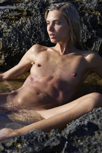 Model Francy in Natural Playboy Grotto