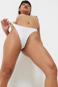 Model Pin in White panties
