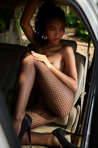 Model Hiromi in Naked In A Toyota