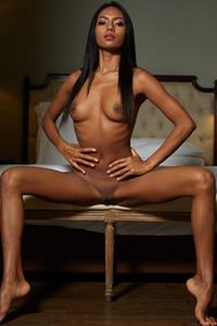 Model Chloe in Nude elegance